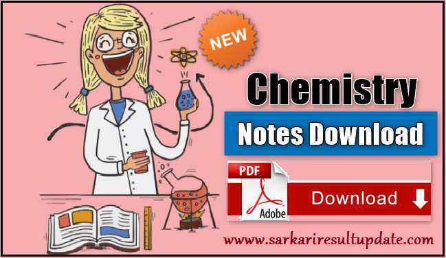 Chemistry Notes for All Competitive Exams Hindi PDF