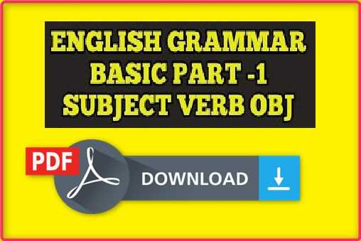 english grammar pdf in hindi