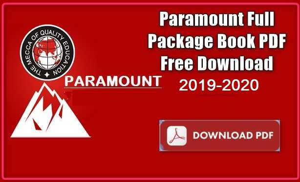 Paramount Full Package Book PDF Free Download