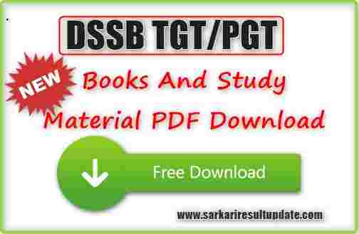 DSSSB TGT PGT Books And Study Material PDF Download