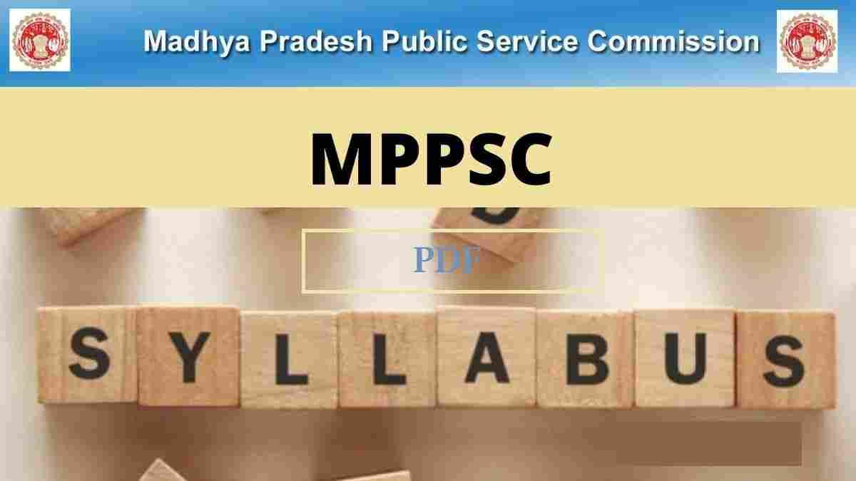 MPPSC Mains Syllabus 2020 in Hindi Download PDF