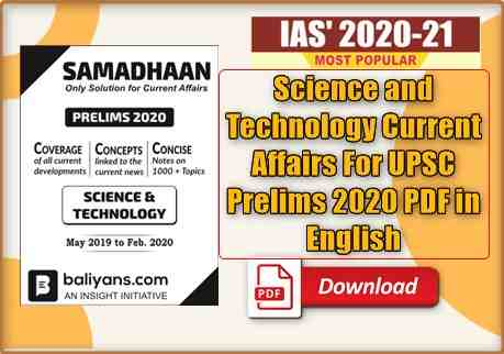 Science and Technology Current Affairs For UPSC Prelims PDF in English