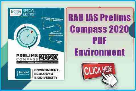 RAU IAS Prelims Compass 2020 Environment