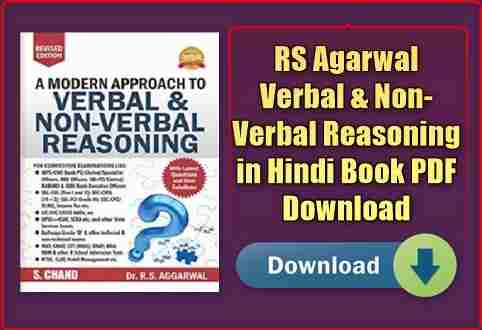 RS Agarwal Verbal & Non-Verbal Reasoning in Hindi Book PDF Download